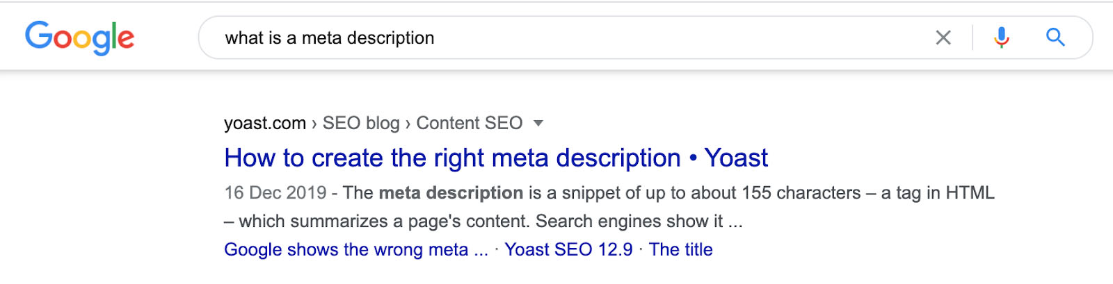 Example of a meta description.