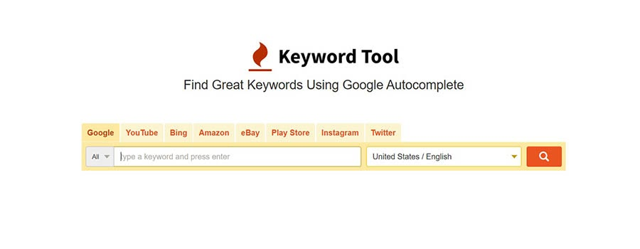 A keyword research tool.