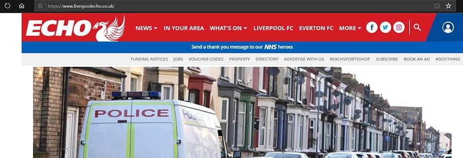The Liverpool Echo newspaper website.