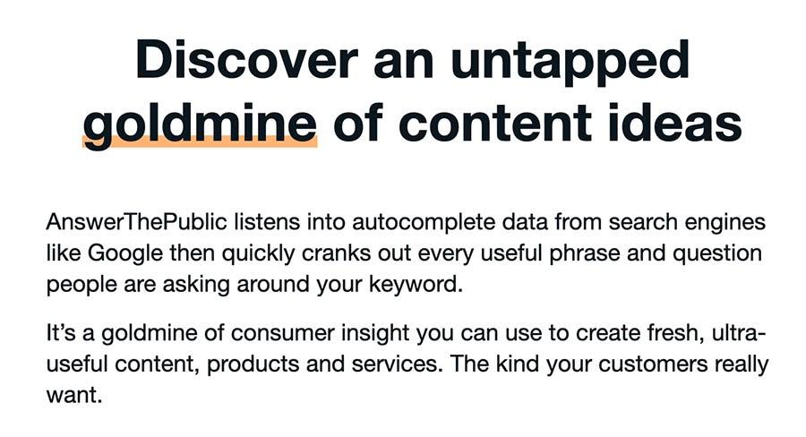 AnswerThePublic services description.