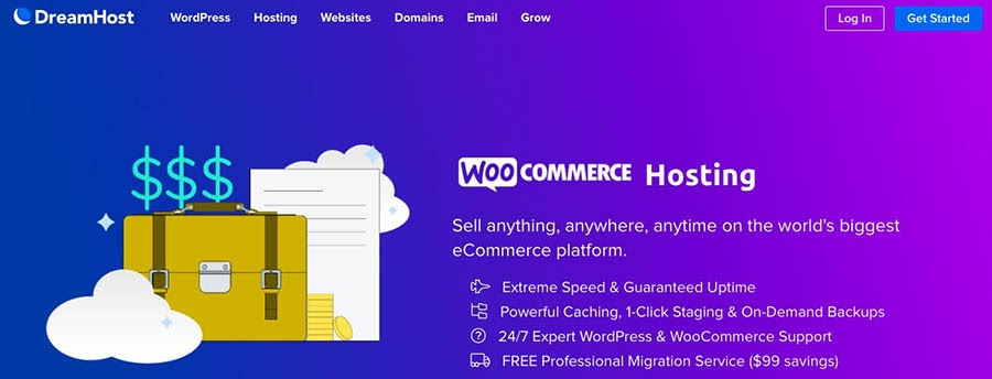 WooCommerce hosting at DreamHost.