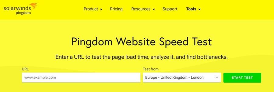 Pingdom's free website speed test.