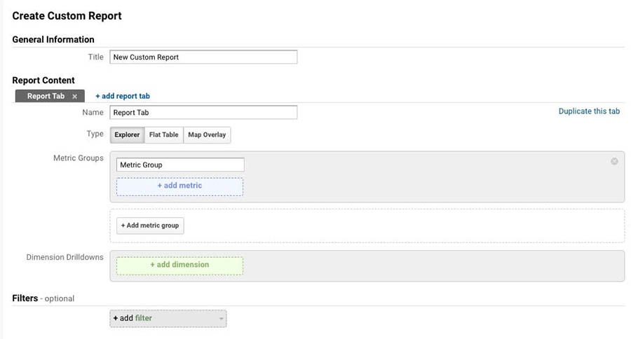 Creating Custom Reports in Google Analytics.