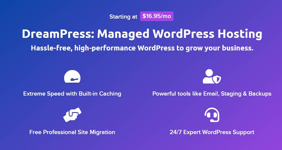 An example of managed WordPress hosting services.