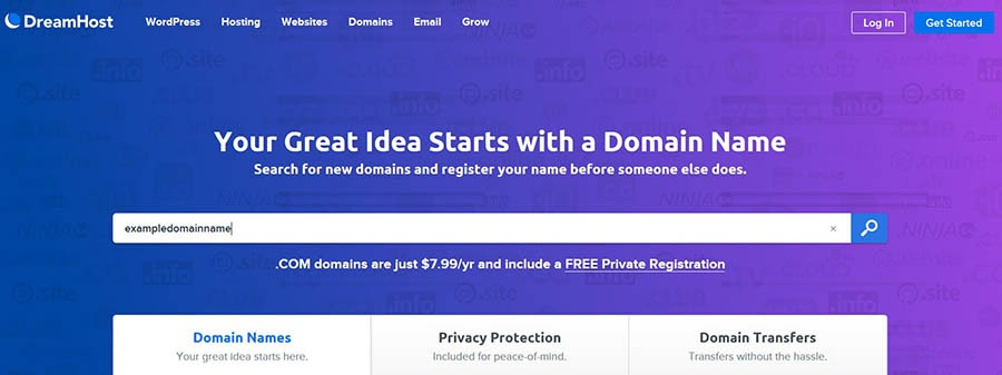 A domain name search tool.