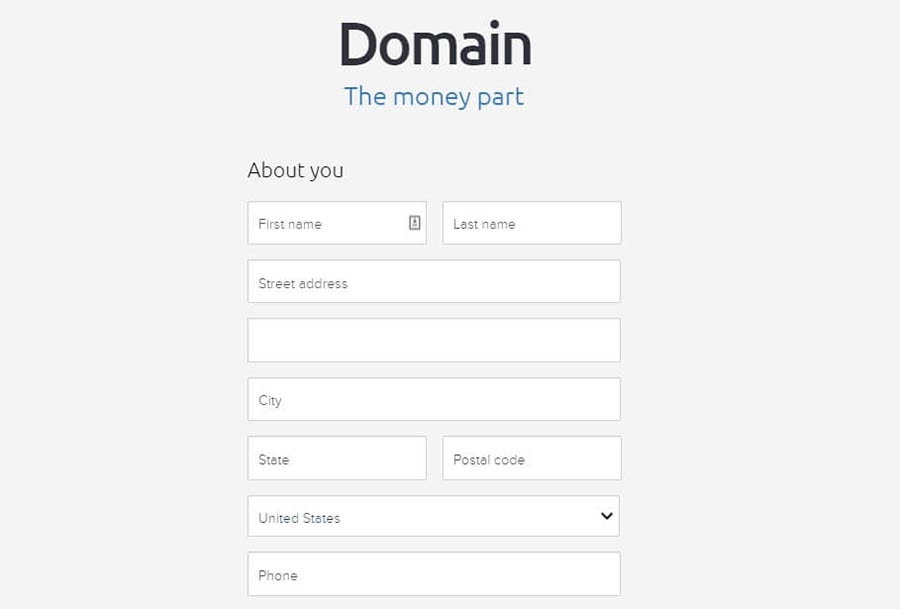 Paying for your domain.