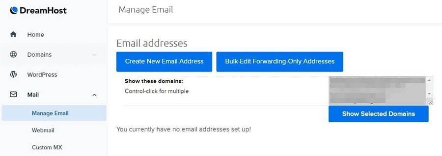 Setting up a new email address.